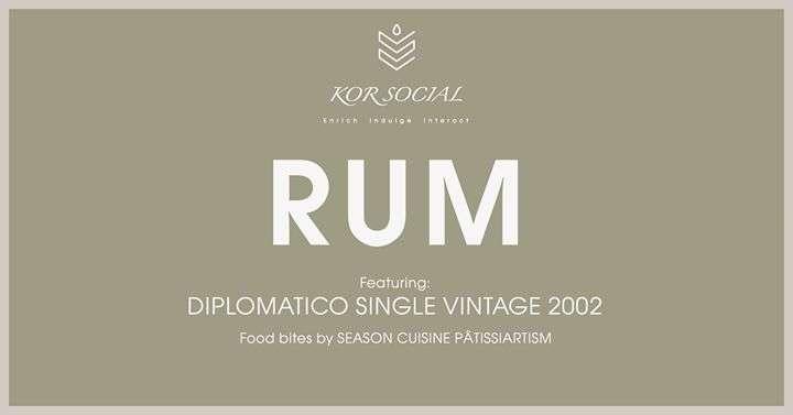 KOR Social - RUM ft.「Diplomatico Single Vintage」 KOR Taipei 台北活動2018年照片